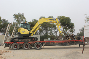 Equiptment for hire from Keith Sand and Metal