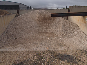 White Aggregate Available from Keith Sand and Metal
